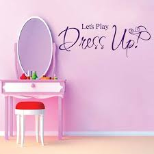 baby girl bedroom decal let s play dress up home decoration vinyl wall art family wall decals quotes sticker on the wall in wall stickers from home garden  on baby girl wall art quotes with baby girl bedroom decal let s play dress up home decoration vinyl
