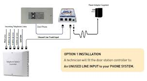 door phone intercom that connects to any pabx door phone for pabx installation option 1 installation a technician will fit the door