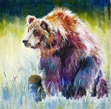 The Rainbow Bear Painting By P Maure Bausch