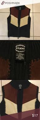 Designers Studio Originals Designers Studio Originals Leather Front Vest Front Is 100