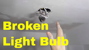 how to remove a broken light bulb base easy tutorial