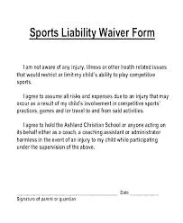 Liability Waiver Form Template Free Example Of A Liability Waiver For Damaged Property Free