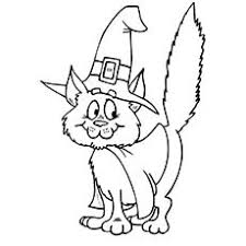Small Picture Halloween Kitten Coloring Pages Halloween Wizard