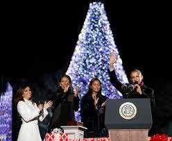 President Obama Christmas Tree Lighting Photos National Christmas Tree Lighting 2016 Wtop