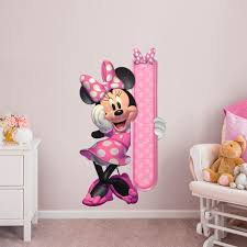 minnie mouse growth chart giant officially licensed disney removable wall decal fathead