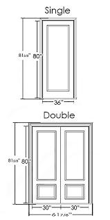 standard door dimensions residential