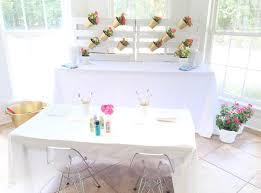 flower pot painting station from a fl 1st birthday party via kara s party ideas karaspartyideas