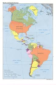 map of north and south america (political map)  worldofmapsnet