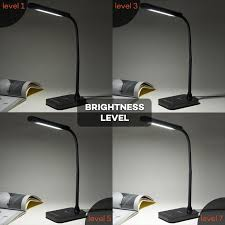 taotronics led desk lamp gooseneck table lamp 7w touch control 7 brightness levels