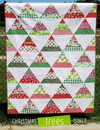 12 Free Modern Christmas Quilt Patterns - wow i like that & christmas trees quilt pattern Adamdwight.com