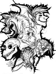 Small Picture Scary Printable Coloring Pages Coloring Coloring Pages