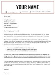 Modern Cover Letter Templates 40 Free Cover Letter Templates For Ms Word Resume Genius