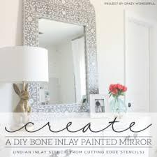 diy painted mirror frame. Create A DIY Bone Inlay Painted Mirror Diy Frame