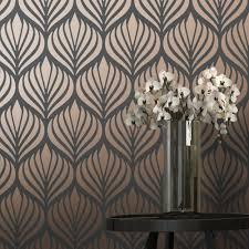 Wallpaper Designs Uk Shimmer Desire Wallpaper Charcoal Copper