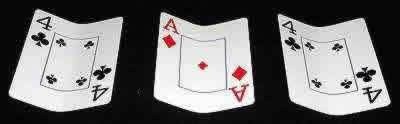 Image result for three card monte card trick