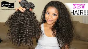 Peruvian Wavy Hairstyles Peruvian Virgin Hair Candy Curl A Lace Closure With 3 Bundles Deal