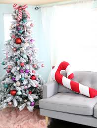 Large Candy Cane Decorations Make a Festive Giant Candy Cane Pillow for Christmas Lovely Indeed 68