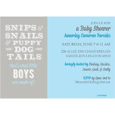 snips snails and puppy dog tails shower invitation
