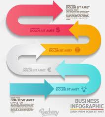 Infographics Arrows Free Vector In Adobe Illustrator Ai Ai