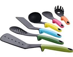 modern kitchen utensils. Joyoldelf Modern Kitchen Utensil Carousel - 6 Piece Nylon Tool Gadgets Set Multicolor Utensils