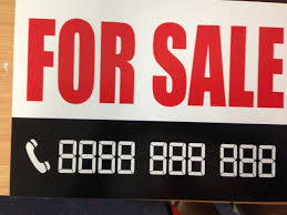 Make A For Sale Sign A 4 Sale Sign With Digital Numbers That Make Any Phone Number