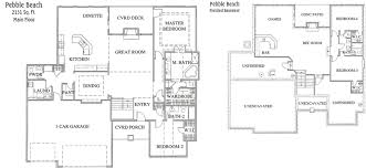 ranch house floor plans with finished basement