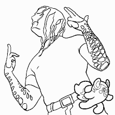 Coloring Page Jeff Hardy Wrestling Coloring Pages Hellokids Jeff