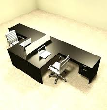 l office desk. Office Desk Two Person L Shaped Divider Workstation Set Four E