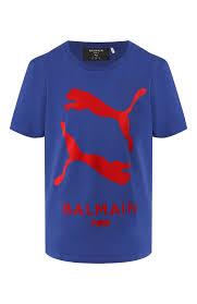 Женская синяя <b>футболка puma</b> x balmain <b>PUMA</b> — купить за 8490 ...