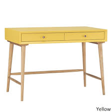 marin danish modern 2 drawer writing desk inspire q modern yellow