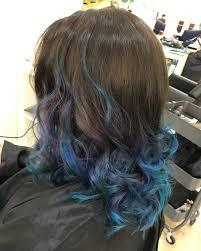Blue Dip Dye On Light Brown Hair Electric Blue Dip Dye On Brown Hair Find Your Perfect Hair