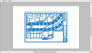 an example of cad data imported into layout using the default settings for the paper space