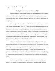 cause and effect essay assignment cause and effect essay fast 2 pages bus 206 quality theorist assignment