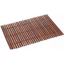 Platzset Bambus Holz Platzdeckchen Platzmatten Braun Creme Schwarz