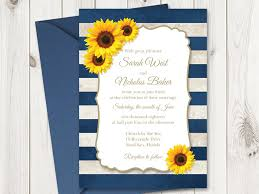 diy wedding invitations shishko templates Wedding Invitations Navy And Yellow here is the invitation with sunflowers and navy blue stripes navy blue and yellow wedding invitations