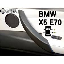 bmw x5 e70 right door handle black leather cover black sch