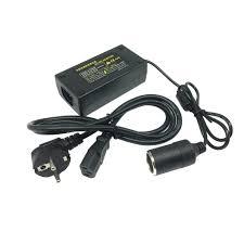 Bộ Chuyển Đổi Nguồn Điện 220V , Tẩu nguồn - Đầu Cắm Ô TÔ 12V/60W/5A - Dây  câu sạc bình ắc quy xe hơi