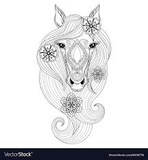 horse face coloring page.  Horse On Horse Face Coloring Page A