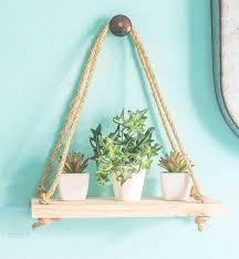 diy rope hanging shelf