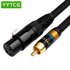 <b>YYTCG Hifi</b> 2RCA Male to 2XLR Female Audio <b>Cable</b> Hi end 4N ...
