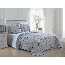paris comforter set queen home fashion en vie 3 piece black white quilt gold and paris comforter set