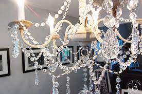 diy rustic glam chandelier makeover