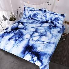 bedding set abstract marble texture bedclothes natural stone pattern duvet cover watercolor blue white bed set funky duvet covers velvet duvet cover
