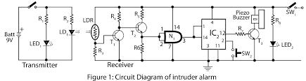 alarm circuit diagram the wiring diagram intruder alarm electronics project circuit diagram