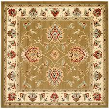 safavieh lyndhurst green ivory 7 ft x 7 ft square area rug