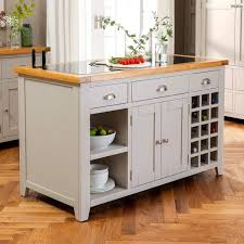 Image Butcher Block The Furniture Market Downton Grey Painted Large Kitchen Island With Black Granite Top