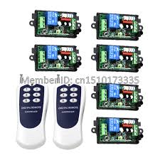 FREE SHIPPING New 2 Transmitters & 6 Receivers 110V 220V 10A 1
