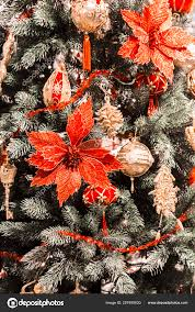 Christmas New Year Vertical Background Christmas Tree Decorated