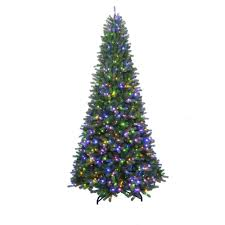 Home Accents Holiday 7 Ft To 10 Ft LED PreLit Adjustable Rising Holiday Home Accents Christmas Tree