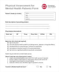 Mental Health Assessment Template Fresh Word Psychiatric Evaluation ...